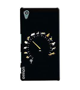 Omnam Living Things Speedo Meter Printed Designer Back Cover Case For Sony Xperia Z5