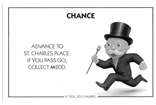 Monopoly Chance Card - Advance to St. Charles Place - 1