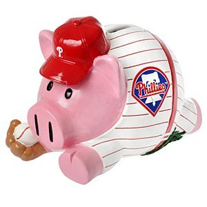 MLB Philadelphia Phillies Action Piggy Bank - 1