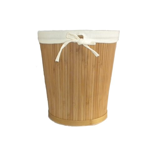 Bamboo Waste Basket Laundry Room Storage Basket Eco-friendly