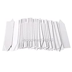 R6 Pack of 100 Plant Pot Markers Plastic Garden Stake Tags Nursery Labels 4 Inch