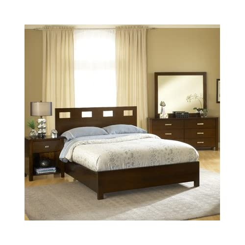 Great Modus Furniture International Riva Platform Bed California King Chocolate Brown