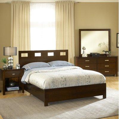 Modus Furniture International Riva Platform Bed, California King, Chocolate Brown front-435549