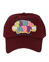 Tiekart Maroon Text Funky Caps