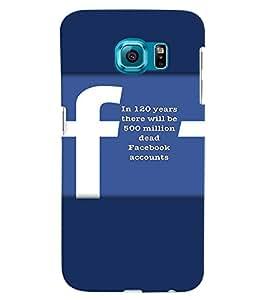 PRINTVISA Quotes Facebook Case Cover for Samsung Galaxy S6 Edge Plus