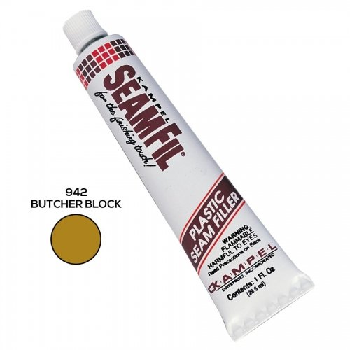 Kampel SF942 SeamFil Caulk, 1 oz Tube, Butcher Block (Adhesive Butcher Block compare prices)