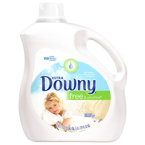 Downy Ultra Fabric Softener Free and Sensitive Liquid 150 Loads, 129-Ounce