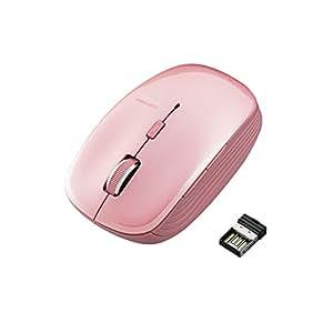 ELECOM ワイヤレスマウス BlueLED 5ボタン 戻る・進むボタン 【ファイナルファンタジーXIV: 新生エオルゼア推奨】 ピンク M-BL21DBPN