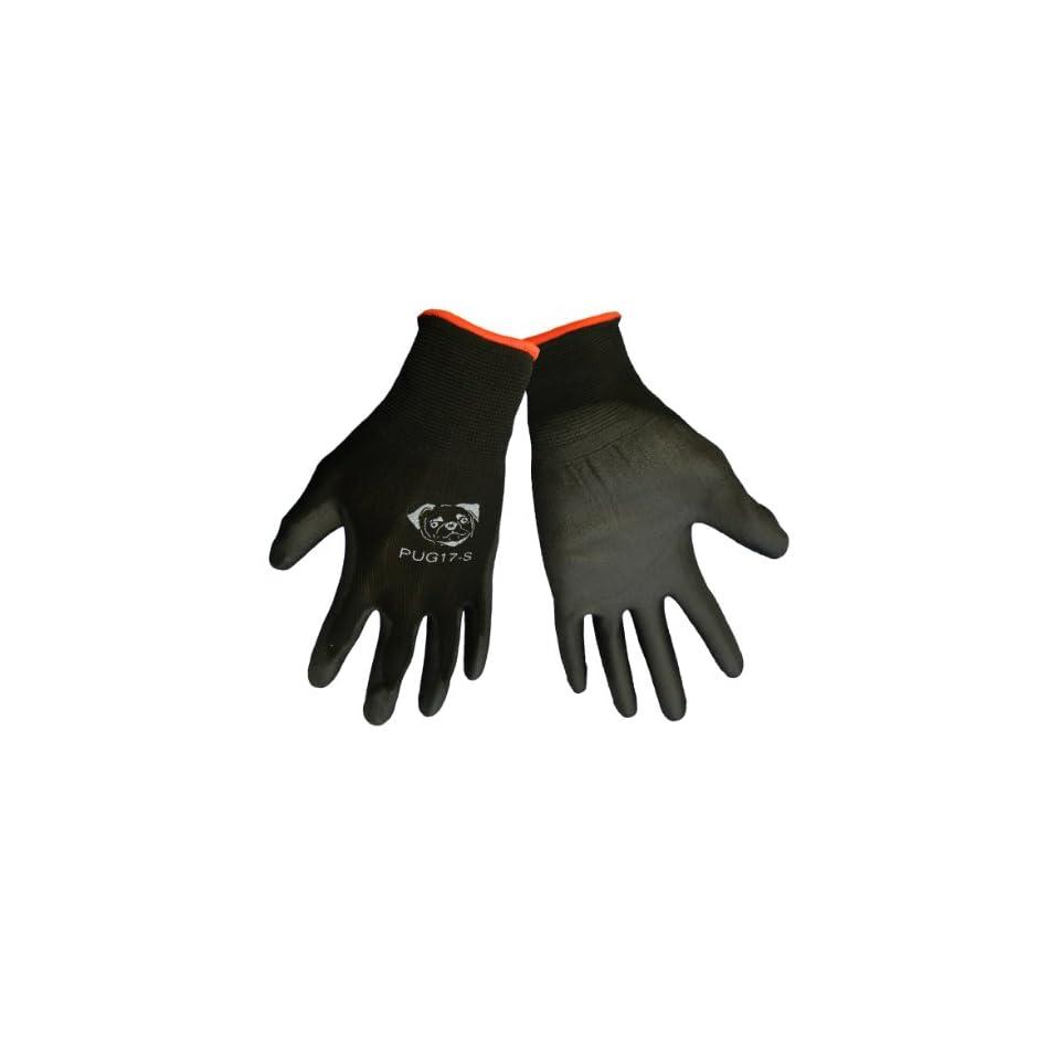 Global Glove PUG17 Polyurethane/Nylon Glove, Work, Large, Black (Case of 144)