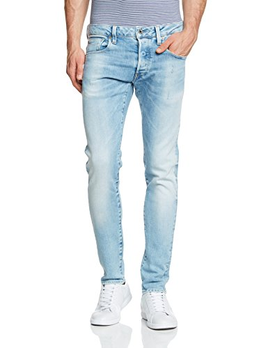 G-STAR - 3301 Slim - Nippon Stretch Denim, Jeans da uomo, blu(blau (lt aged 424)), 42/44 it (29w/32l)