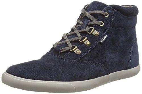 Clarks Torbay Peak, Sneaker alta uomo, Blu (Blu (Navy Suede)), 44.5