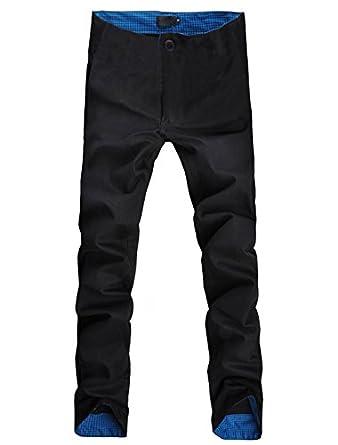 Allegra K Straight Leg Casual Pants Plaid Pants Zip Off Cargo Pants for Men