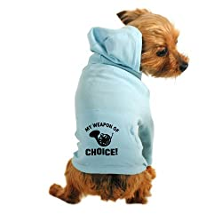 CafePress French Horn Weapon Of Choice Dog Hoodie - M Light Blue from CafePress