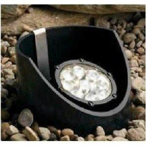 Kichler Lighting 15729Bkt Landscape Cast Aluminum 9-Light Led 10-Degree Adjustable Well Light With Optic Diffuser, 12-Volt/12.4-Watt, Textured Black