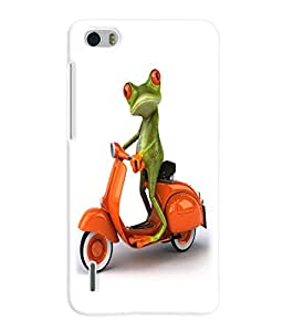 Fuson 3D Printed Funny Cartoon Designer Back Case Cover for Huawei Honor 6 - D822