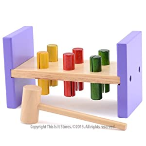 Traditional Wooden Toy Hammer Bench