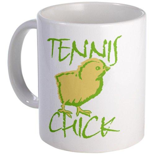Cafepress Green Tennis Chick Mug - Standard Multi-Color