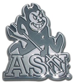 ASU - Arizona State University Sun Devils NCAA College Chrome Plated Premium Metal Auto Car Truck Motorcycle Sun Devil Emblem