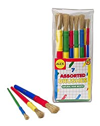 ALEX Toys Artist Studio 7 Assorted Paint Brushes Natural Hair Bristle