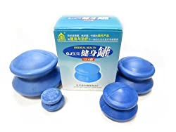 4-Cup Rubber Chinese Cupping Therapy Set