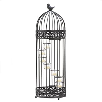 Gifts & Decor Birdcage Style Staircase Tealight Candle Holder Stand
