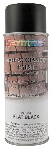 Seymour 16-1706 Roof Accessory Paint, Flat Black (Shingle Paint compare prices)