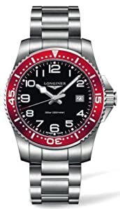 Longines HydroConquest Black Dial Stainless Steel Bracelet Mens Watch L36894596