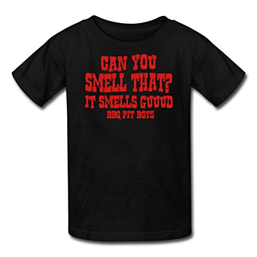 Spreadshirt Kids' Can You Smell That? It Smells Guuud Bbq... T-Shirt, Black, M