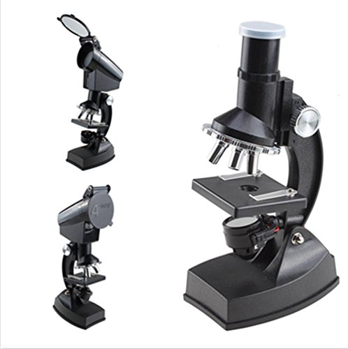 Agptek Students And Kids Using Educational Biological Projection Microscope 300X-600X-1200X With Lightbeginner Compound Microscope Kit