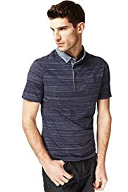 Autograph Pure Cotton Space Dye Polo Shirt