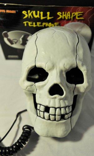 Fearful Skull Shape Novelty Telephone Flashing Phone image