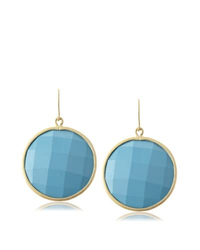Belargo Blue Large Disk Earrings