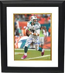 Ryan Tannehill Autographed Hand Signed Miami Dolphins 16X20 Photo Custom Framed by Hall of Fame Memorabilia