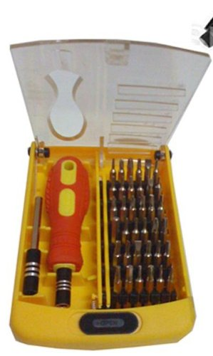 Nomex-NX10D-3-Drill-Machine-10Mm-40Pc-Screwdriver-Tool-Kit-3Hss-Bit-1Masonry-Bit-38Pcs-Yellow-Precise-Screwdriver-Set