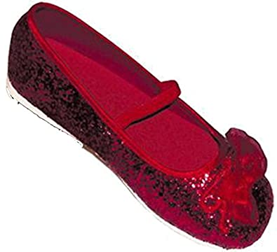 Red Glitter Party Shoes - Kids Accessory 5 - 6 years