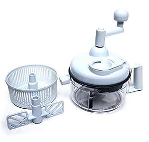 Salsa Maker, Food Chopper, Mixer and Blender - Miracle Chopper Manual Food Processor