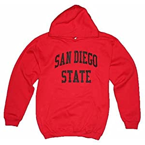 San Diego State Aztecs Hooded Sweatshirt - Red by SportShack INC