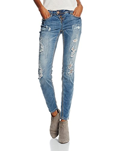 Rockangel Amy, Jeans Donna, Middle Blue 19300, 42 (Taglia Produttore: XL)