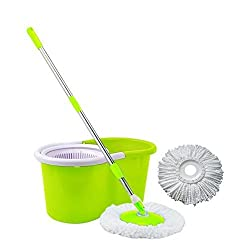Beaut Hand Pressure Spin Mop - Green Color