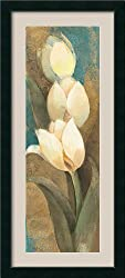 Tulip Trio Panel Framed Print by Albena Hristova Framed