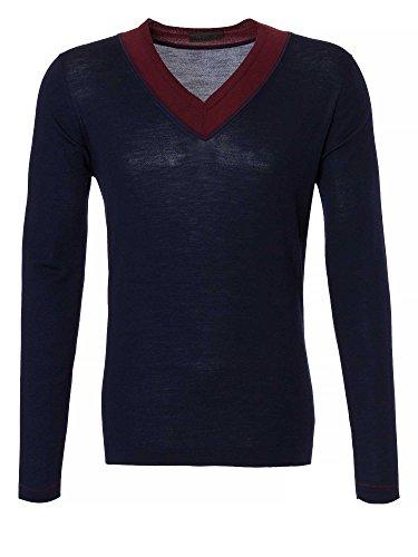 PRADA Uomini Pullover blu scuro 56/XXL