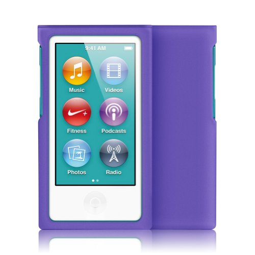 Minisuit Jazz Slim Snap-On Hard Shell Case Cover For Apple Ipod Nano 7 (Rubberized Purple)