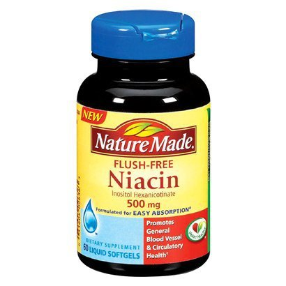Nature Made Niacin 500Mg Flush Free 60Ct Softgels 3 Pack