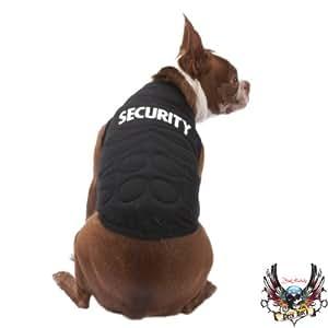 SECURITY Muscle Tank DOG COSTUME Bouncer Pet Halloween Shirt X-SMALL