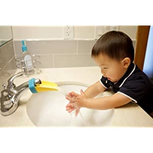 Aqueduck Bathroom Faucet Extender / Children Faucet Extension