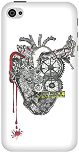 The Racoon Lean The Machine hard plastic printed back case / cover for Apple Iphone 4/4s