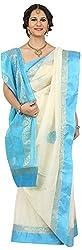 SHRI BALAJI SILK & COTTON SAREE EMPORIUM Women's Tassar Silk Saree (1(3))