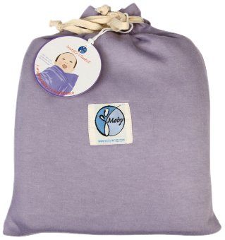 Moby Wrap 100% Cotton Swaddle Blanket, Lilac front-941159