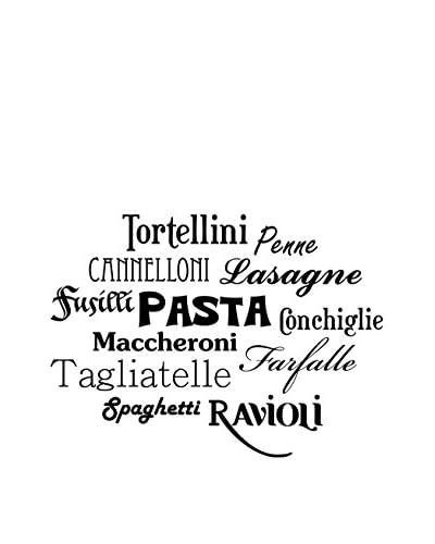 Ambiance Sticker Vinile Decorativo Italian Pasta Names