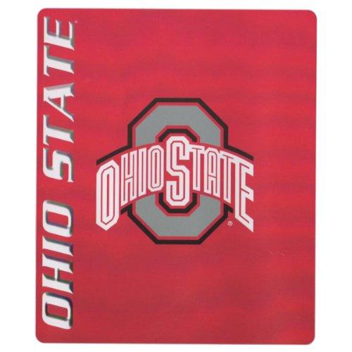 "College ""Name And Logo"" Fleece Throw Blankets - Ohio State Buckeyes front-503259"